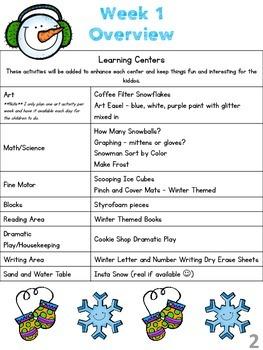 January Lesson Plan Series-Week 1 Winter