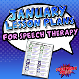 January Speech Lesson Plans (FREE)