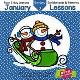 January Lessons Preschool Pre-K Kindergarten Curriculum BUNDLE S2