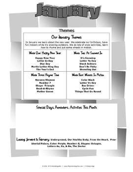 January Lessons Preschool Pre-K Kindergarten Curriculum BUNDLE S3