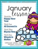 January Lessons Preschool Pre-K Kindergarten Curriculum BUNDLE S3