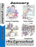January Lessons Preschool Pre-K Kindergarten Curriculum BUNDLE S1