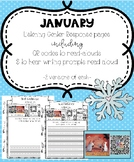 January Listening Center Response Pages QR Codes to read-alouds & Prompts