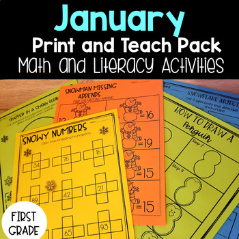 January Print and Teach Pack