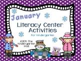 Winter Literacy Center Activities - Kindergarten