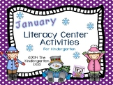 Winter Literacy Center Activities - Kindergarten