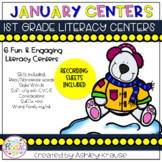 January Literacy Centers - 1st Grade