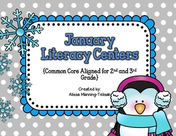 January Literacy Centers {Common Core Aligned for 2nd and