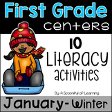January Literacy Centers - First Grade