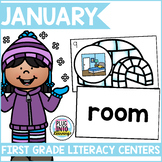 January Literacy Centers for First Grade