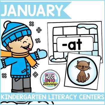 January Literacy Centers for Kindergarten