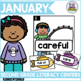 January Literacy Centers for Second Grade