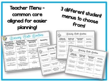 January Literacy & Math Centers Menu BUNDLE {Common Core Aligned} Grade 2