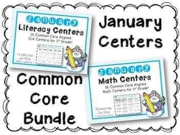 January Literacy & Math Centers Menu BUNDLE {Common Core A