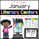January Literacy Centers 1st Grade