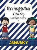January Literacy Morning Work