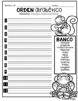 January Literacy No Prep Packet ¡En Español! (1st, 2nd, 3rd) FREEBIE!