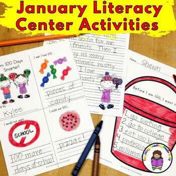 January Literacy Center Activities Bundle for Kindergarten