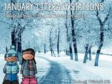 January Literacy Stations for First Grade- Aligned with Common Core