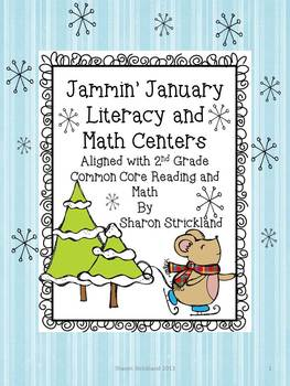 January Literacy and Math Centers for Second Grade-Common Core Aligned