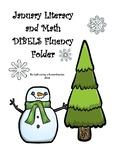 January Literacy and Math DIBELS Fluency Folder