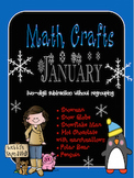 January MATH CRAFTS Subtracting Two-Digit Numbers without Regrouping