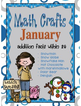 January MATH CRAFTS Addition Facts within 20