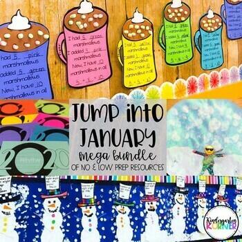 January Mega Bundle No Prep Writing Math 2021 New Year S Bulletin Boards