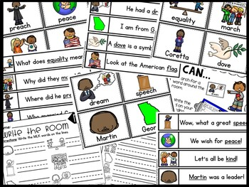 January MLK Write the Room - Martin Luther King Jr Write the Room