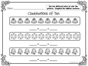 January Made Simple: No Prep Kindergarten Common Core Activites