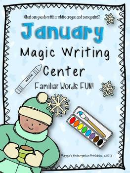 January Magic Writing Center Activity