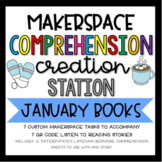 January Makerspace STEM Reading Listening Comprehension Creation Station