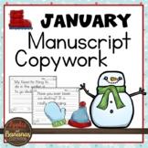 January Copywork - Manuscript Handwriting Practice