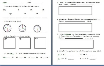January Math Assessment