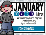 January Math Bins For Kindergarteners- Aligned To The Common Core!