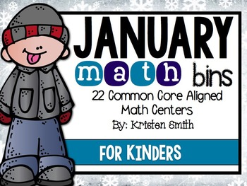 January Math Bins For Kindergarteners- Aligned To The Comm