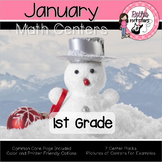 January Centers - 1st Grade - Math