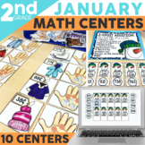January Math Centers & Activities for 2nd Grade
