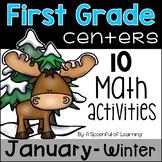 January Math Centers - First Grade