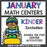 January Math Centers for Kindergarten