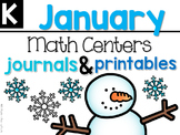 January Math Centers, Journals, and Printables Kindergarten