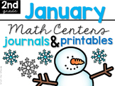 January Math Centers, Journals, and Printables Second Grade