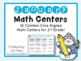 January Math Centers Menu {Common Core Aligned} Grade 2