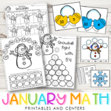 January Math {Centers & Printables}
