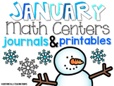 January Math Centers and Printables First Grade