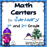 January Math Centers for 1st and 2nd Grade