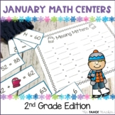 January Math Centers for 2nd Grade