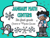 January Math Centers for First Grade
