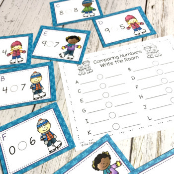 January Math Centers for Kindergarten