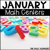 Kindergarten Math Centers for January
